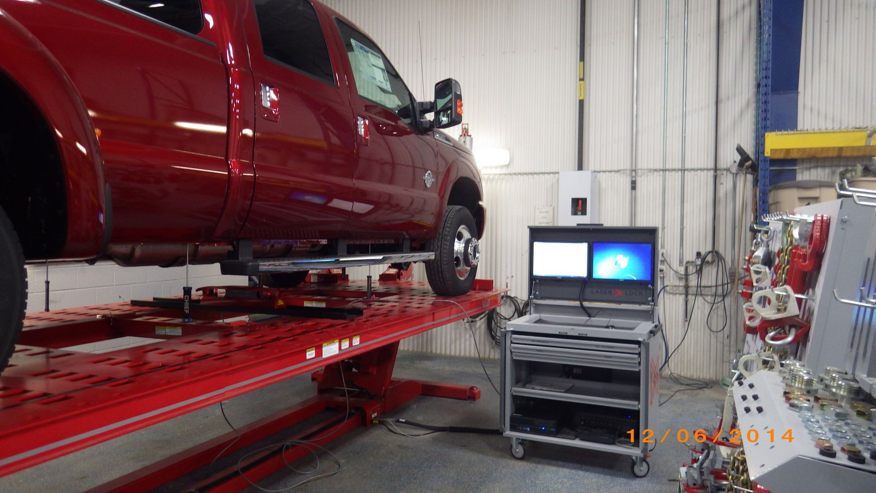 Advanced Laser Measuring and Straightening System